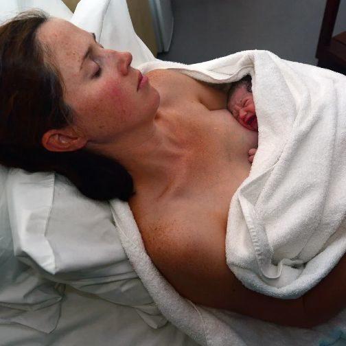 Варвара Старикова - мама, первые роды